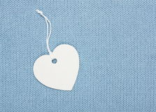 Etiqueta da etiqueta da forma do coração Fotografia de Stock