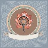 Etiqueta da flor. ilustração stock