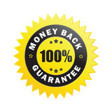 Etiqueta da garantia da parte traseira do dinheiro Fotos de Stock