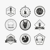 Etiqueta da música ilustração royalty free