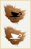 Etiqueta da mancha do café ilustração stock