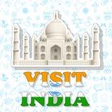 Etiqueta da Índia da visita Foto de Stock