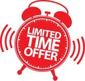 Etiqueta da oferta do tempo limitado, ilustração do vetor Foto de Stock