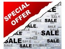 Etiqueta da oferta especial Fotografia de Stock
