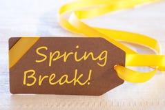 Etiqueta da Páscoa, férias da primavera do texto Fotografia de Stock Royalty Free
