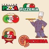 Etiqueta da pizza Foto de Stock
