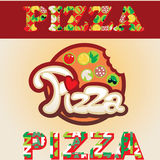 Etiqueta da pizza Fotos de Stock Royalty Free
