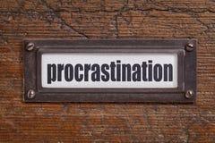 Etiqueta da procrastinação Fotografia de Stock
