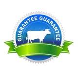 Etiqueta da qualidade de alimento da carne Foto de Stock