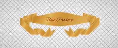 Etiqueta da qualidade do ouro Fotografia de Stock