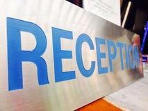 Etiqueta da recepção Imagens de Stock