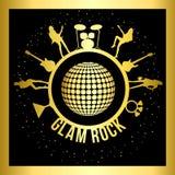 Etiqueta da rocha glam ilustração stock