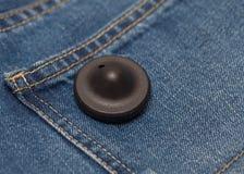 Etiqueta da segurança da roupa foto de stock