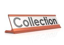 Etiqueta da tabela da coleção Fotografia de Stock Royalty Free