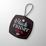 Etiqueta da venda de Black Friday Imagem de Stock