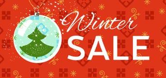 Etiqueta da venda do inverno Natal, cartão de preço do ano novo Fotos de Stock