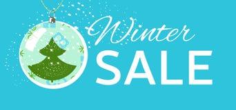 Etiqueta da venda do inverno Natal, cartão de preço do ano novo Fotografia de Stock