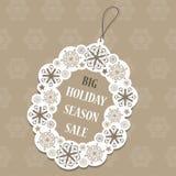 Etiqueta da venda do Natal Fotos de Stock Royalty Free