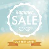 Etiqueta da venda do verão Fotos de Stock Royalty Free