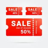 Etiqueta da venda da oferta especial Promo do vetor ilustração do vetor