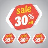Etiqueta da etiqueta da venda para introduzir no mercado o projeto varejo do elemento Imagens de Stock Royalty Free