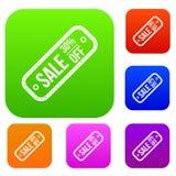 Etiqueta da venda 30 por cento fora da coleção do grupo Foto de Stock