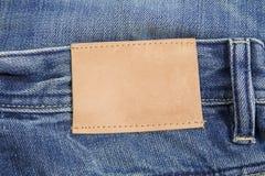 Etiqueta das calças de brim Fotos de Stock Royalty Free