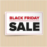 Etiqueta das vendas de Black Friday Imagem de Stock Royalty Free