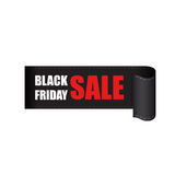 Etiqueta das vendas de Black Friday Fotos de Stock