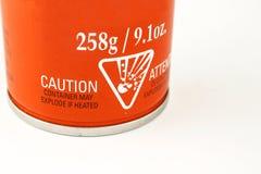 Etiqueta de advertência fotografia de stock