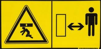 Etiqueta de advertencia 4 del peligro del vehículo Imágenes de archivo libres de regalías