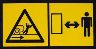 Etiqueta de advertencia 3 del peligro del vehículo Fotos de archivo