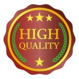 Etiqueta de alta calidad en el fondo blanco Ilustración del vector Foto de archivo