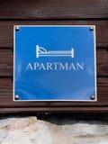 Etiqueta de Apartman Imagem de Stock Royalty Free