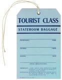Etiqueta de bagaje del vapor - 1937 Imagen de archivo
