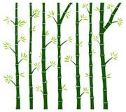 Etiqueta de bambú de la pared del árbol stock de ilustración