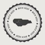 Etiqueta de Buck Island Reef ilustração royalty free