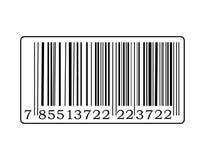 Etiqueta de código de barras ilustração royalty free