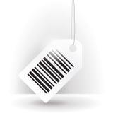 Etiqueta de código de barras com linha Imagens de Stock Royalty Free