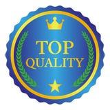 Etiqueta de calidad superior en el fondo blanco Ilustración del vector Fotografía de archivo