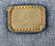 Etiqueta de couro em branco das calças de brim Fotos de Stock Royalty Free