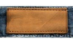 Etiqueta de cuero Imágenes de archivo libres de regalías