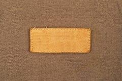 Etiqueta de cuero en blanco de la etiqueta Fotos de archivo