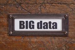 Etiqueta de dados grande - etiqueta do armário de arquivo Foto de Stock