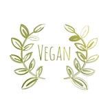 Etiqueta de Eco do vegetariano ilustração do vetor