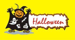 Etiqueta de Halloween Imagem de Stock