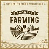 Etiqueta de la agricultura biológica del vintage Imagen de archivo