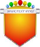 Etiqueta de la bandera foto de archivo libre de regalías