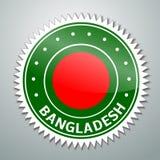 Etiqueta de la bandera de Bangladesh ilustración del vector