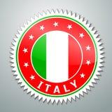 Etiqueta de la bandera de Italia stock de ilustración